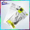 plastic charging cable packing custom iphone cable packing bag