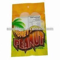2014 Colored Printing Custom Plastic Food Packaging Bag For Snacks