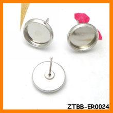 New arrival Copper Stud earring Jewelry Bezel ZTBB-ER0024