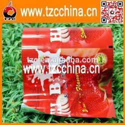 Custom cookie laminated packaging film/strawberry flavor cookie packaging
