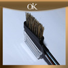 QK high quality synthetic fiber wood handle eyebrow Brush