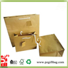 high quality kraft paper shop bag with hole handle