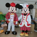 Hola christmas mickey mouse and minnie mouse mascot costume