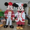 Hola natal de mickey mouse e minnie mouse traje da mascote
