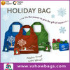 Wholesale resuable Chirstmas shopping bag, polyester floral print foldable shopping bag