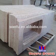 Prefab American Standard Size Granite G682 Yellow Countertop