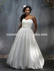 Cheap Taffeta Spaghetti Strap Gown Sweep Train Plus Size Wedding Dresses