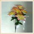 2013 nova moda 7 heads laranja buquê de flores de plástico para decoração