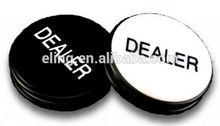Pro Dealer Button/Casino Grade Poker Dealer Button metal embossed snap button for garment