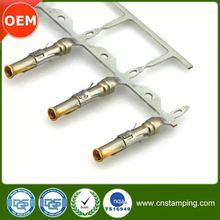 Precision custom made low price red cord end e crimp terminal