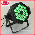 Hot wlp-01-5 18 pcs rgbwa( uv) em 5 1( ou 6 em 1) 15w leds internos pode par led dmx lavar parede de luz mostram