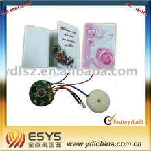 Voice recording chips for holiday and birthday greeting cards