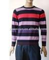 2014 mais recente moda camisola dos homens tarja em torno do pescoço pulôver de malha modelo