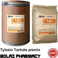 Tilosina tartrato soluble en polvo 10% animales de productos veterinarios