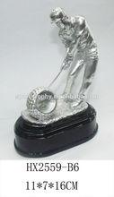 new design resin golf sport award trophy with black base for business craft