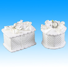 Beautiful ceramic wedding gift sweet party favour boxes table decorations
