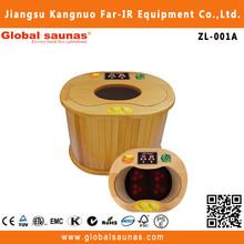 wooden barrel bath tub far infrared red cedar sauna foot spa