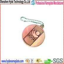 custom metal keychain shape tag, cheap brass tag
