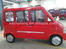 red 5 passenger seat electric mini bus