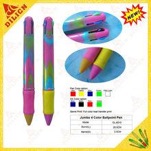 new plastic multi-color jumbo pen, colorful big ballpoint pen