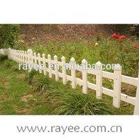 pvc portable fence panels/ plastic garden fence,valla de estacas,cerca do jardim branco