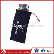 logo printed microfiber drawstring cell phone bag,custom microfiber drawstring cell phone bag