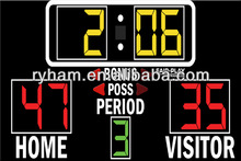 Factory Hotselling basketballof score board with timer andscores changeable team names