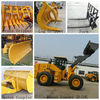 wheel loader sweeper/5.0 tons wheel loader with price list/low price 5t loader for sale