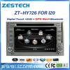 Factory direct sale Car audio for Hyundai I20 2008-2012 car auto radio dvd cd player ZT-HY726