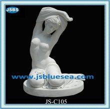 Barato decorativo del hogar Natural de mármol de mujeres desnudas