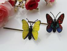 Borboleta grampos de cabelo ( cores sortidas ), Borboleta hairpin bobby pin / cabelo aderência / borboleta monarca updo hairpin