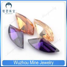 New fashion fan shape zircon gemstone for earrings making