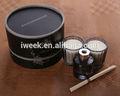 caja real de cera de soja vela perfumada y líquido