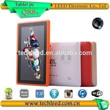 7.0inch Cortex A23 WIFI Big speaker dual core Tablet pc Q88+