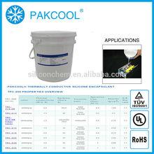 PAKCOOL non-toxic thermal conductivity non flammable silicone sealant