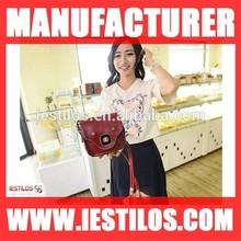 Best selling colorful cheap handbag women pu handbag manufacturer 3658