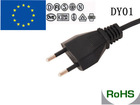 2 pin European VDE approved power cord VDE power cord with flat plug electric rice cooker power cord