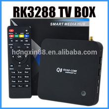 High Quality Q8 Tv Box Q8 H.265, 2GB/8GB, Bluetooth 4.4 decoder box cable tv