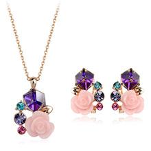 Umode Fashion Jewelry Set Dubai Gold Jewelry With Swarovski Elements Crystal