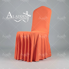 wedding decoration supplies universal spandex chair cover , banquet chair covers,ruffled wedding chair cover .