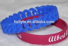 Alibaba China Colorful custom silicone wristband/silicon bracelet for Christmas Ornament