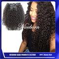 Excelente calidad rizado pinza de pelo rizado en las extensiones de cabello