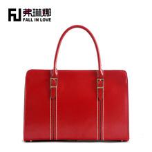 new arrival brand name 2014 red color business women handbag PU bag,woman handbag