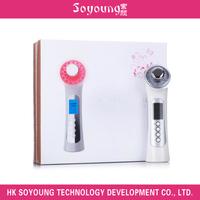 Handheld photon & ultrasonic facial beauty device