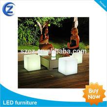 Patio furniture glowing LED cube light,led cube seat,led decorative light
