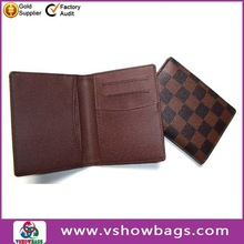 Manufacture promotion gift card holder genuine leather case
