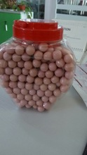 small ball shape bubble gum with natural colour