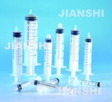 medical plastic syringe produced by syringe production line