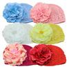 fashion cheap fancy baby hats/beanie with pretty flower