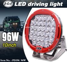 Hot selling 9 inch 96w 12v cree car led driving light